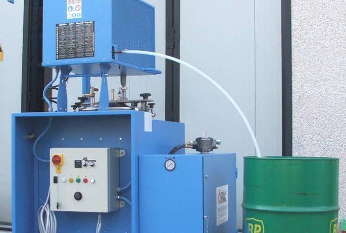 Rigeneratore solvente Solvent Reclaimer MIXER Atex Zona Zone 2