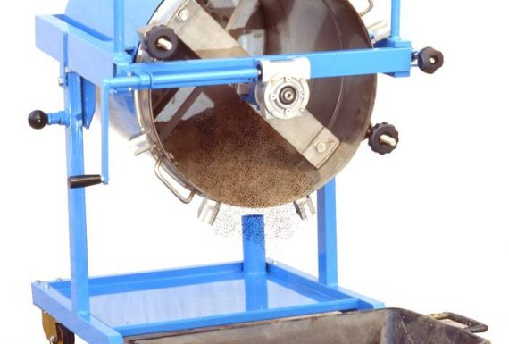 Rigeneratore solvente Solvent Reclaimer MIXER Atex Zona Zone 2 serbatoio mixer su girello - Tant on the tilting trolley